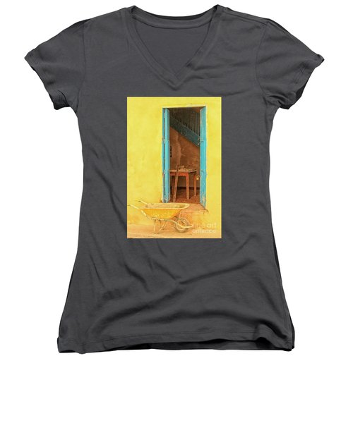 Colorful House  Women's V-Neck T-Shirt