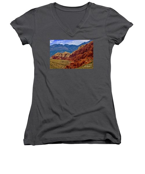Colorful Red Rock Women's V-Neck (Athletic Fit)