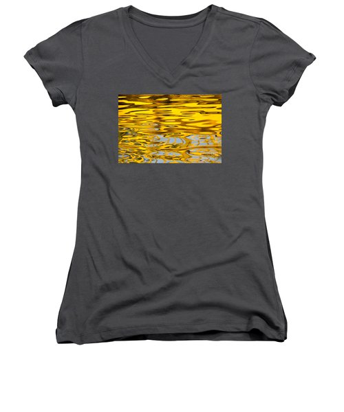 Colorful Reflection In The Water Women's V-Neck