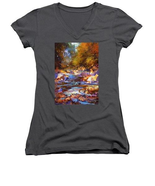 Colorful River Women's V-Neck