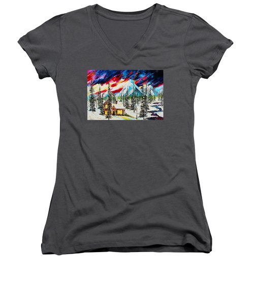 Colorful Sky Women's V-Neck