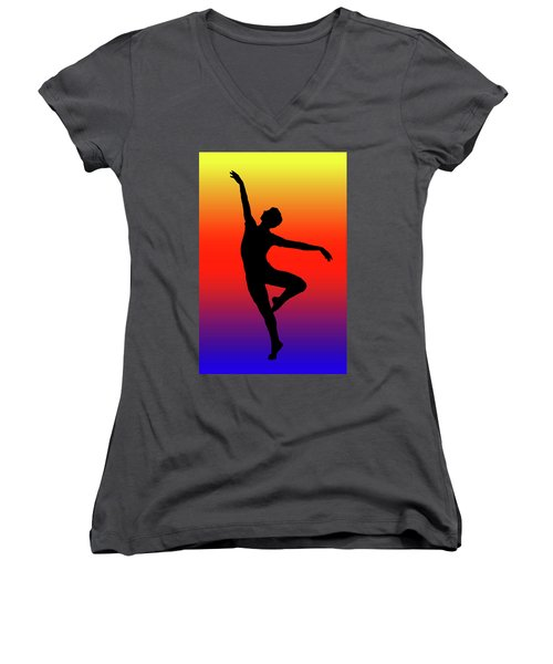 Colors Dance Women's V-Neck T-Shirt