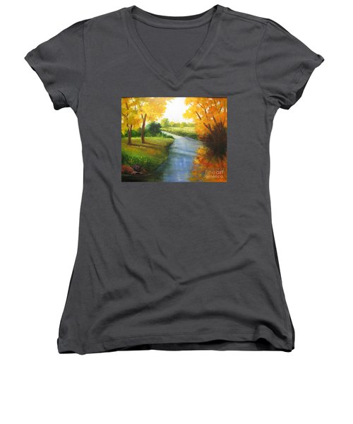 Colors Of Fall Women's V-Neck (Athletic Fit)