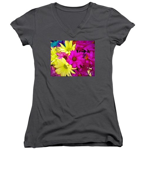 Women's V-Neck featuring the photograph Colors by Robert Knight