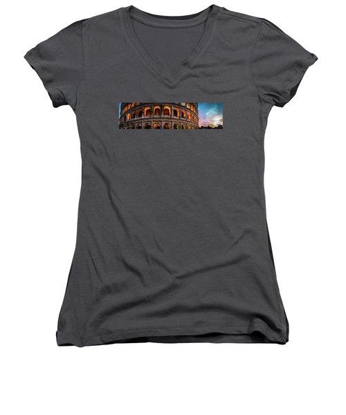 Colosseum In Rome, Italy Women's V-Neck T-Shirt