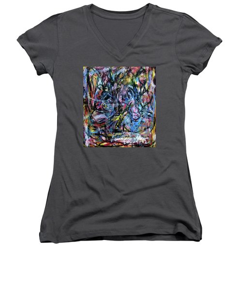 Colour Talking Women's V-Neck (Athletic Fit)