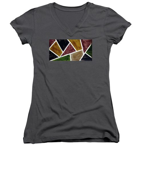 Coloured Glass Women's V-Neck