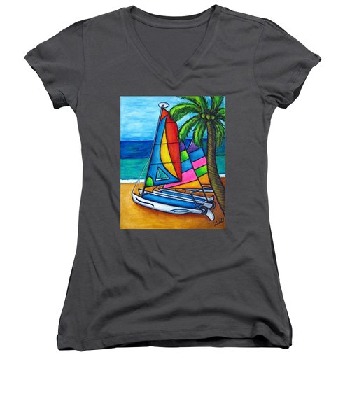 Colourful Hobby Women's V-Neck (Athletic Fit)
