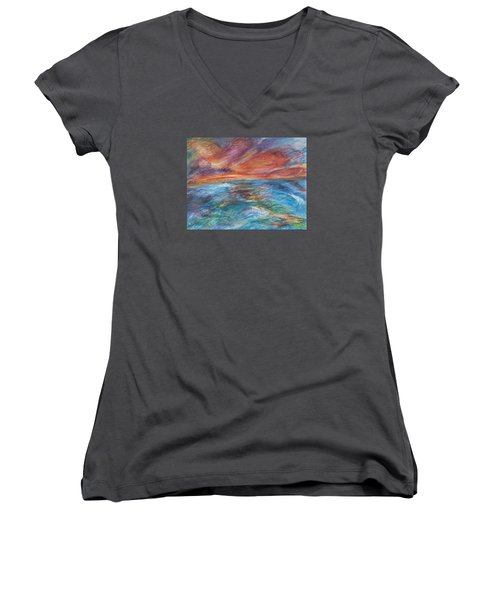 Colours Of The Sea 8 Women's V-Neck (Athletic Fit)