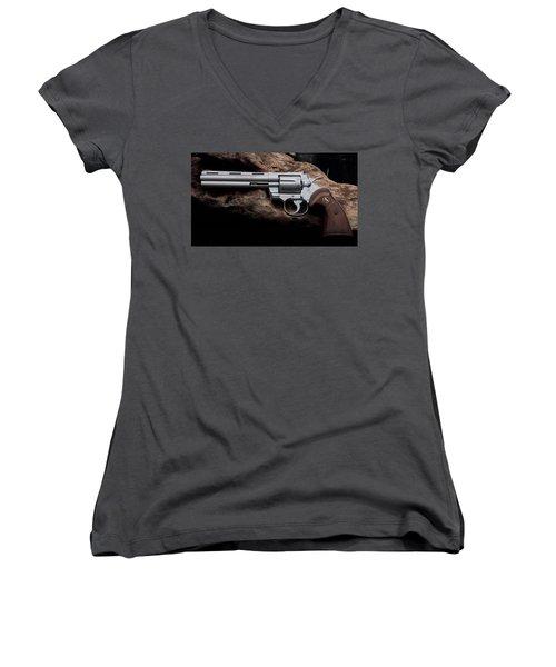 Colt Python Revolver Women's V-Neck