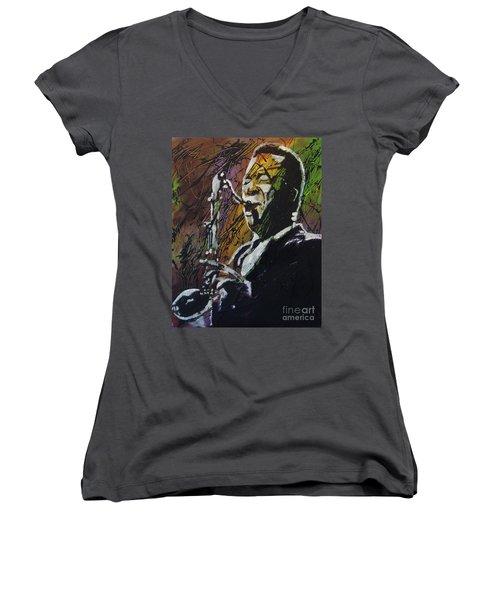 Coltrane Women's V-Neck T-Shirt (Junior Cut) by Stuart Engel