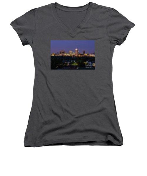 Columbia Skyline At Twilight Women's V-Neck