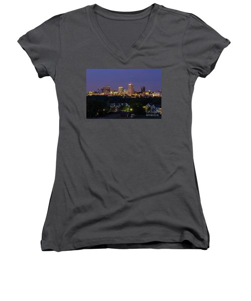 Columbia Skyline At Twilight Women's V-Neck