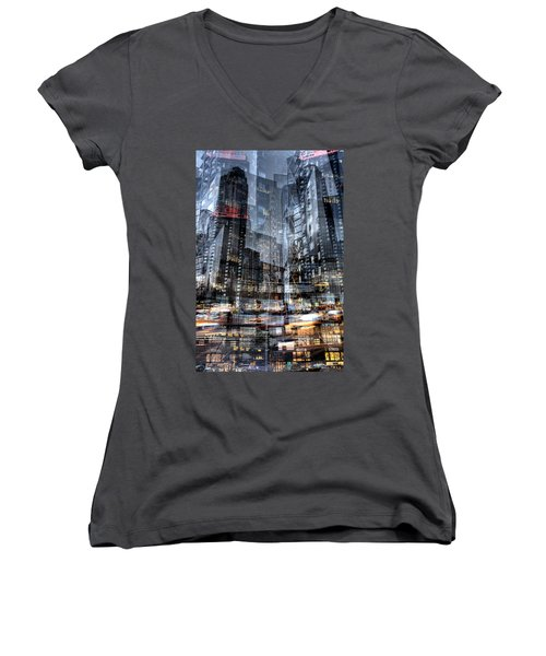Columbus Circle Collage 1 Women's V-Neck