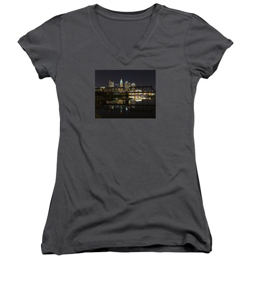 Columbus Skyline Women's V-Neck T-Shirt