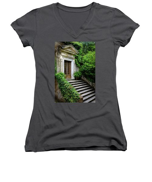 Women's V-Neck T-Shirt (Junior Cut) featuring the photograph Come On Up To The House by Marco Oliveira