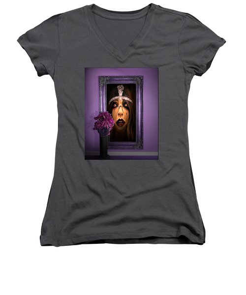 Come With Me, If You Dare Women's V-Neck