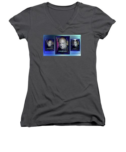 Cometh The Hour . . .  Women's V-Neck (Athletic Fit)