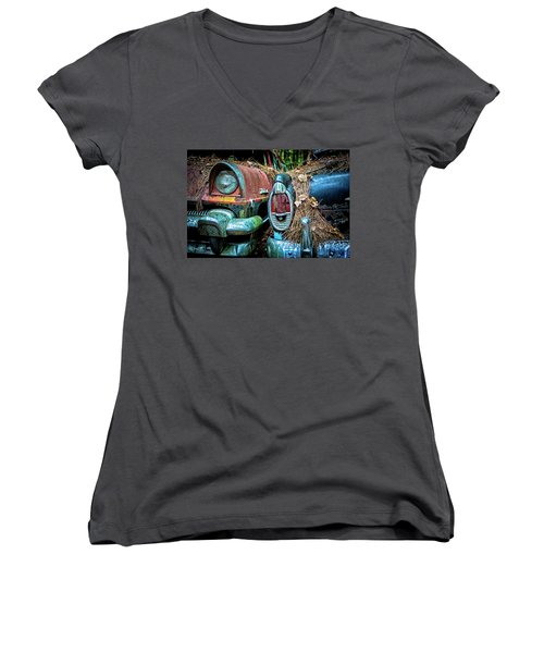 Coming And Going, 2 Women's V-Neck T-Shirt