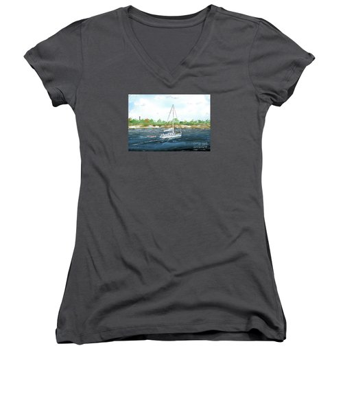 Coming Back To The Isle Of Palms Women's V-Neck (Athletic Fit)