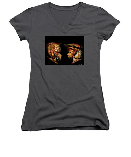 Coming Face To Face Women's V-Neck (Athletic Fit)