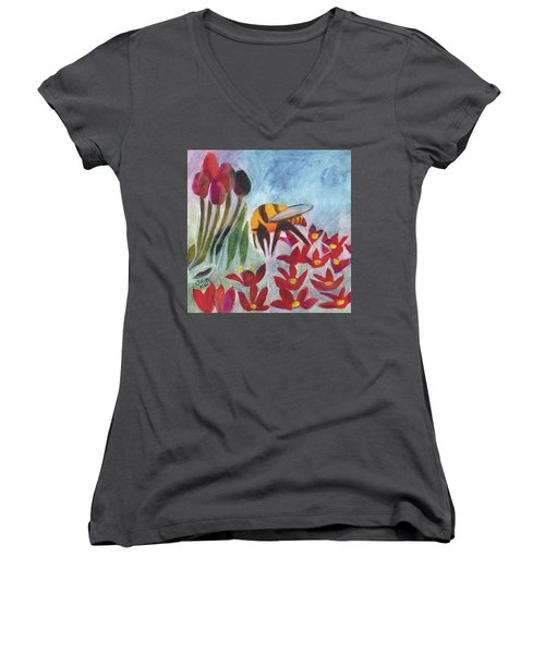 Coming In For A Landing Women's V-Neck T-Shirt