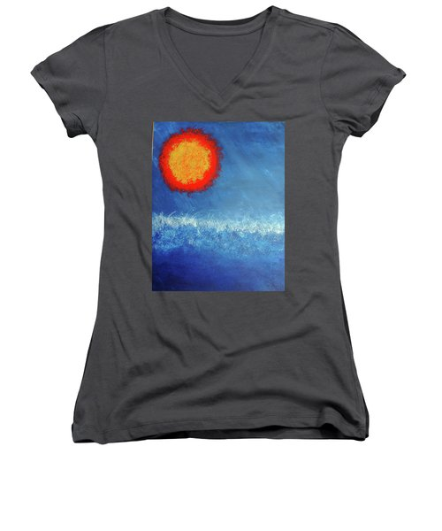 Coming To A Boil Women's V-Neck (Athletic Fit)