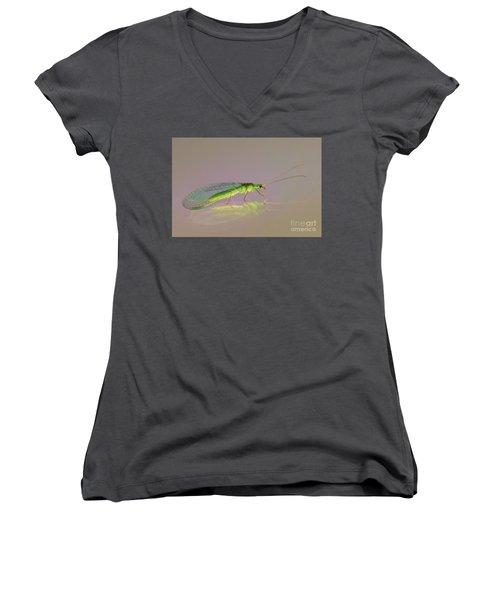 Common Green Lacewing - Chrysoperla Carnea Women's V-Neck T-Shirt