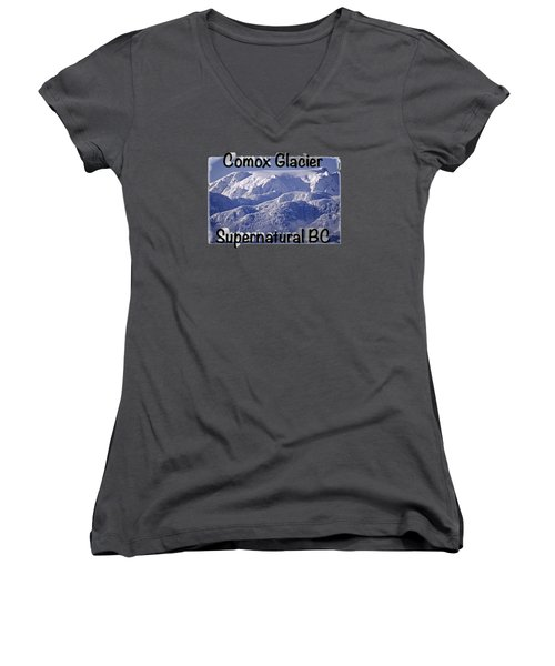 Comox Glacier And Fresh Snow Women's V-Neck T-Shirt