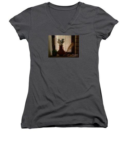Composition Women's V-Neck T-Shirt (Junior Cut) by AmaS Art
