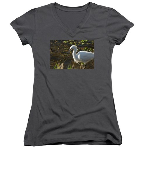 Concentration Women's V-Neck T-Shirt (Junior Cut) by Michael Courtney