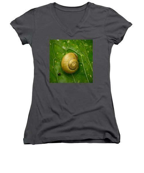 Women's V-Neck T-Shirt (Junior Cut) featuring the photograph Conch by Jouko Lehto