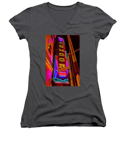 Condor Neon On Broadway Women's V-Neck (Athletic Fit)