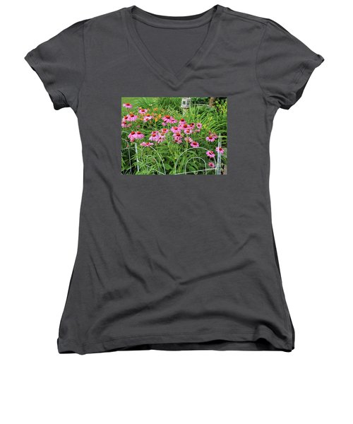 Cone Plants Women's V-Neck (Athletic Fit)