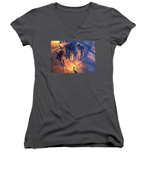 Confronted By Malignant Forces Women's V-Neck