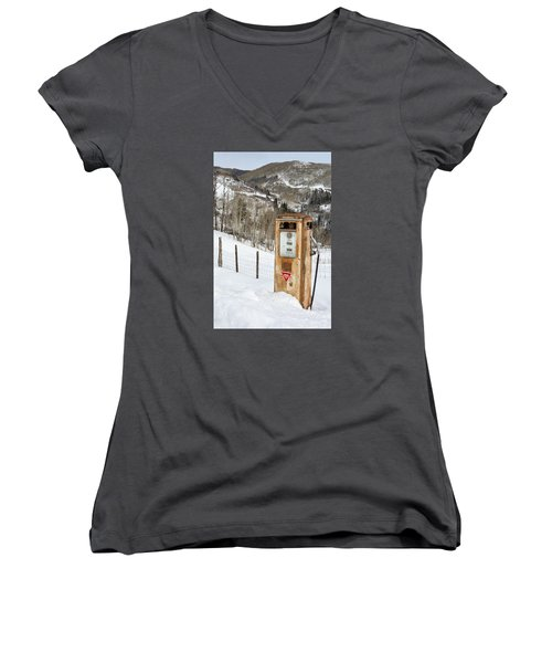 Conoco In The Snow Women's V-Neck (Athletic Fit)