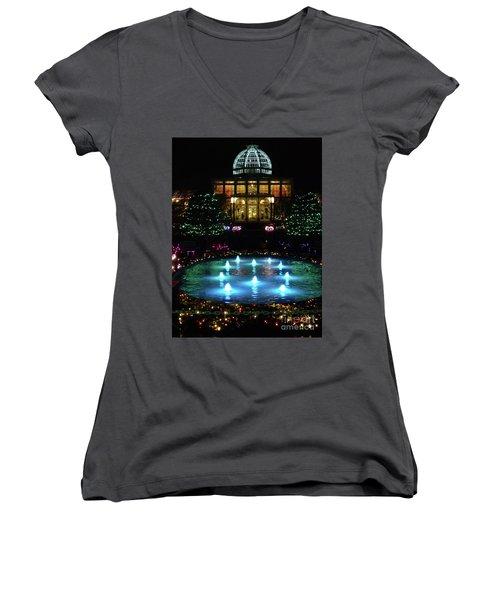 Conservatory At Night Women's V-Neck T-Shirt