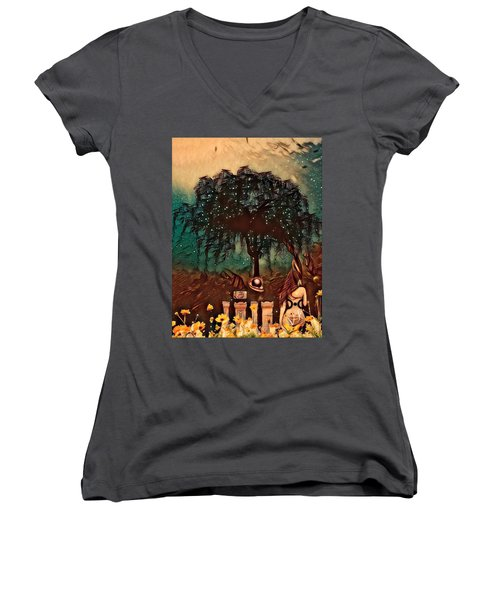 Consulting The Mother Women's V-Neck T-Shirt (Junior Cut) by Vennie Kocsis