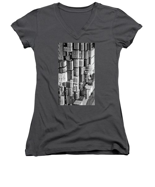 Container Library Women's V-Neck
