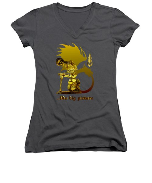 Women's V-Neck T-Shirt featuring the photograph Contemplating Mortality by Robert G Kernodle