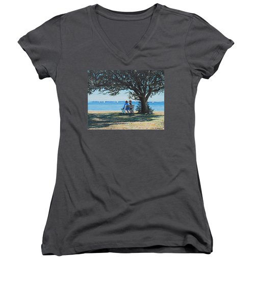 Conversation In The Park Women's V-Neck (Athletic Fit)