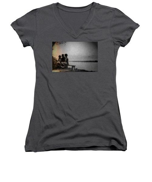 Converse Women's V-Neck T-Shirt (Junior Cut) by Mark Ross