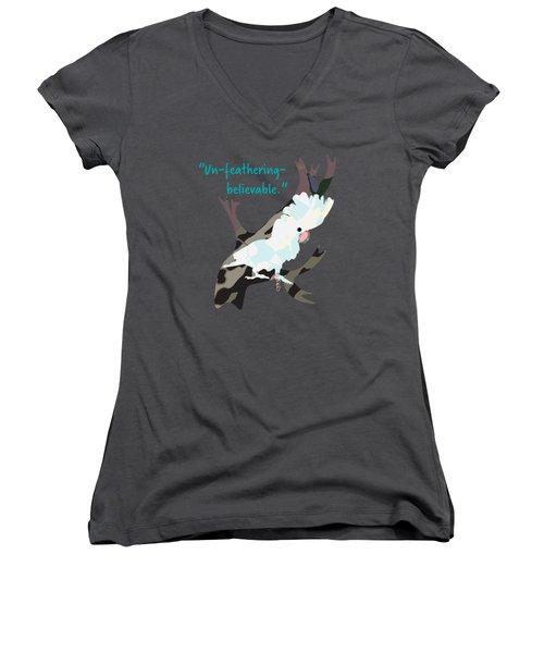 Cookie Cockatoo Women's V-Neck T-Shirt