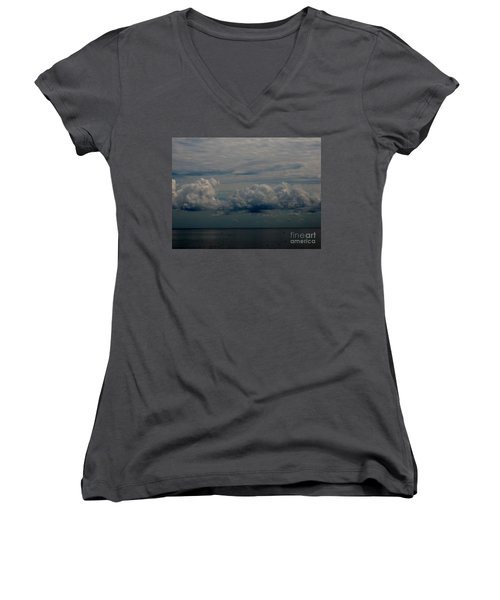Cool Clouds Women's V-Neck (Athletic Fit)