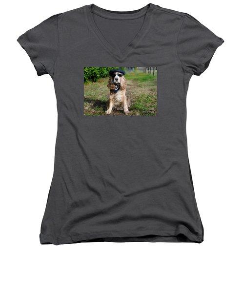 Cool Dog Women's V-Neck (Athletic Fit)