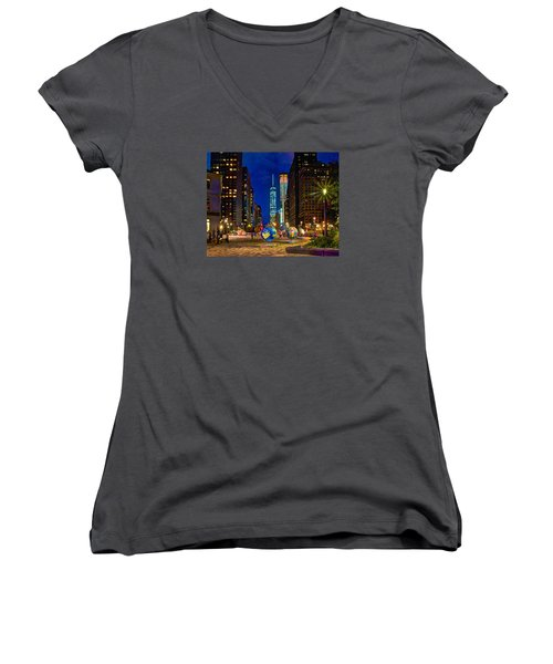 Cool Globes Women's V-Neck T-Shirt
