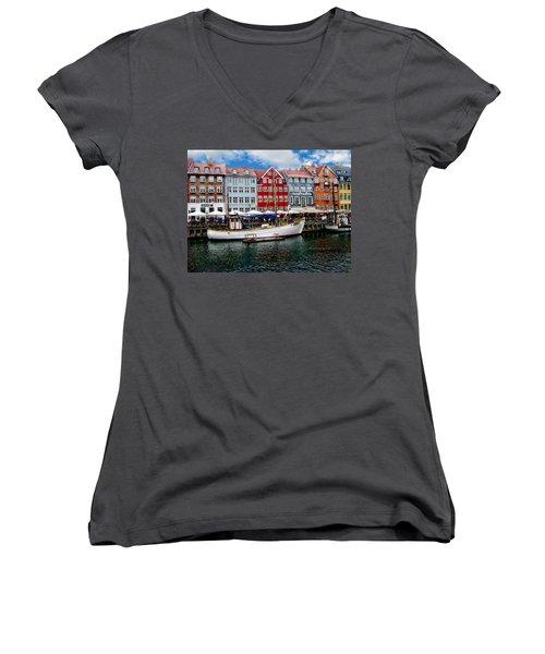 Copenhagen - Denmark Women's V-Neck T-Shirt