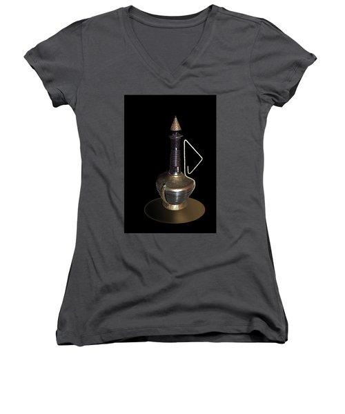 Copper And Black Wine Server Women's V-Neck (Athletic Fit)