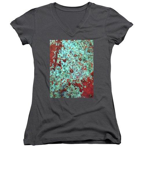 Copper Patina No. 39-1 Women's V-Neck T-Shirt
