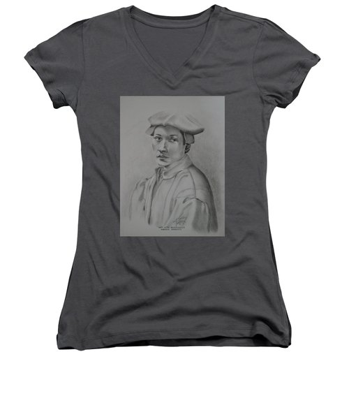 Copy After Michelangelo's Andreas Quaratesi Women's V-Neck (Athletic Fit)